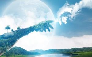 De-hand-naar-god-uitreiken